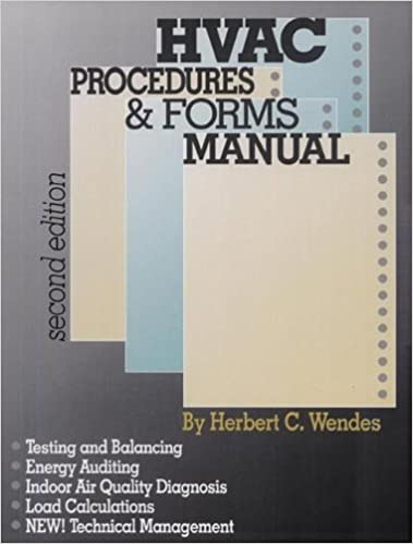 HVAC Procedures & Forms Manual 2nd Edition