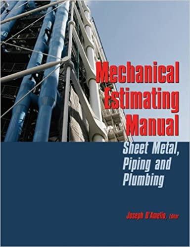 Mechanical Estimating Manual: Sheet Metal, Piping and Plumbing